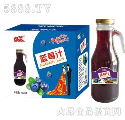 好梦蓝莓汁1.5Lx6瓶