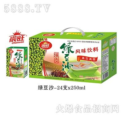 晨旺绿豆沙风味饮料250mlx24盒