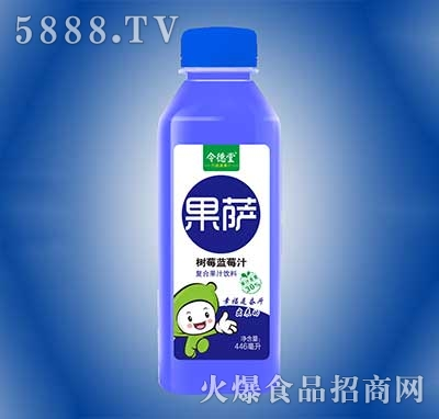 令德堂果萨树蓝莓汁复合果汁饮料446ml