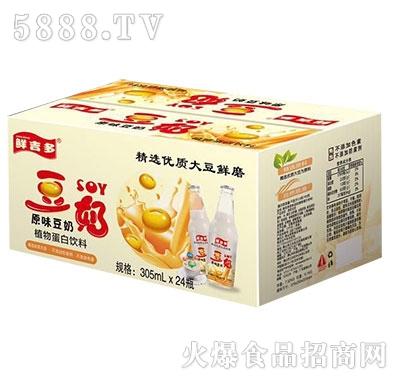 鲜吉多原味豆奶305mlx24瓶