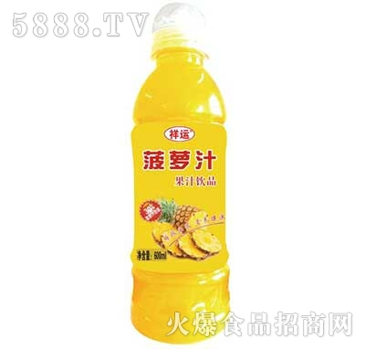 祥运菠萝汁果汁饮料600ml