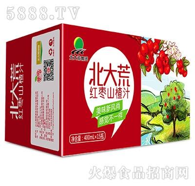 400mlx12瓶北大荒集团红枣山楂汁