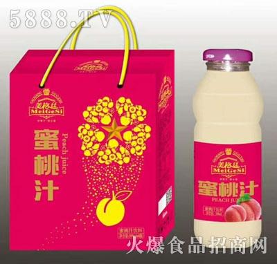 美格丝蜜桃汁饮料350mlx8瓶