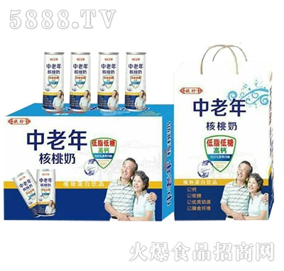 欧珍中老年核桃奶植物蛋白饮品产品图