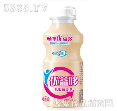 畅享优益哆草莓味乳酸菌饮品340ml