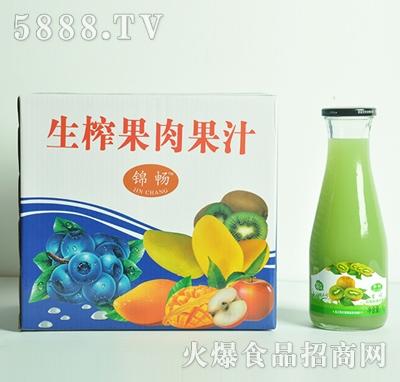 生榨猕猴桃果肉果汁1Lx6瓶