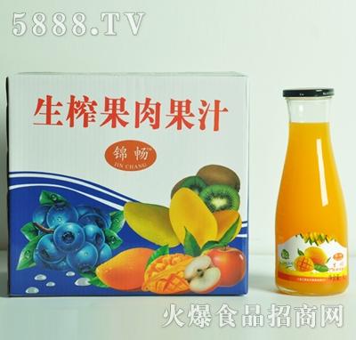 生榨芒果果肉果汁1Lx6瓶