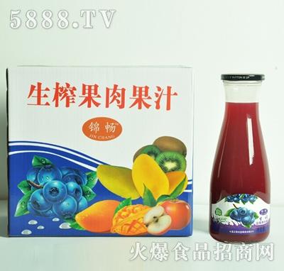 生榨蓝莓果肉果汁1Lx6瓶