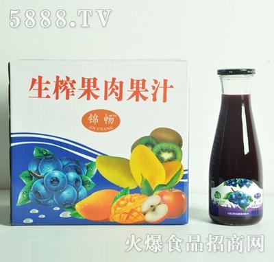 蓝莓果肉果汁1Lx6瓶
