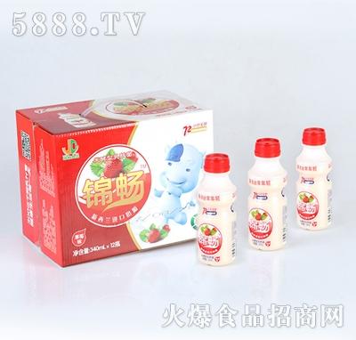 锦畅发酵型乳酸菌草莓味饮品340mlx12瓶
