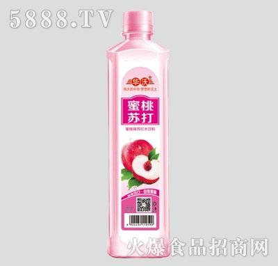 华沃蜜桃味苏打水饮料