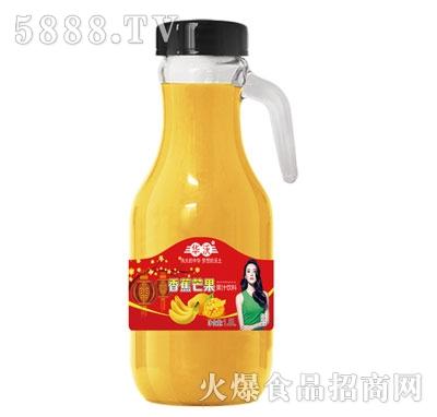 华沃冷榨香蕉芒果汁1.5Lx6瓶