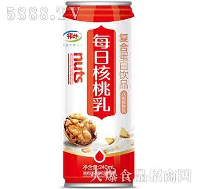 福牛每日核桃乳240ml罐装
