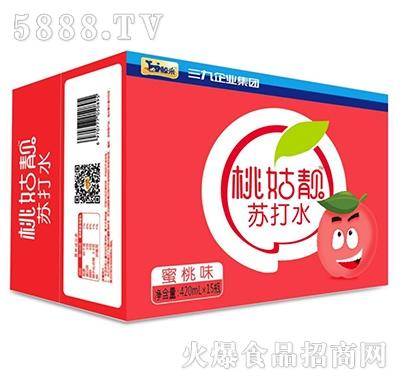 鲸采桃姑�n蜜桃苏打420mlx15瓶