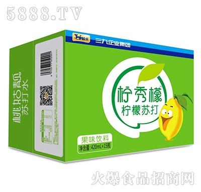 鲸采柠秀檬柠檬苏打420mlx15瓶