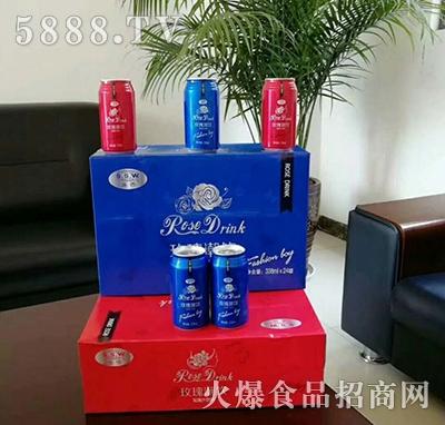 玫瑰潮饮玫瑰汁饮料(红、蓝装)