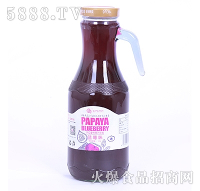 武当龙木瓜复合果汁饮料蓝莓味1.5L