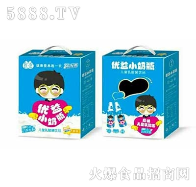 优益小奶瓶儿童乳酸菌饮品原味产品图