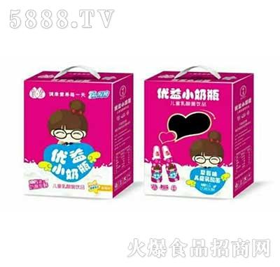 优益小奶瓶儿童乳酸菌饮品草莓味产品图