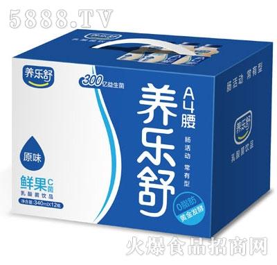 养乐舒原味鲜果C菌340mlx12瓶