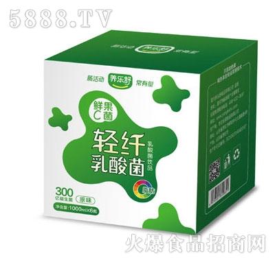 养乐舒鲜果C菌轻纤乳酸菌原味1Lx6瓶