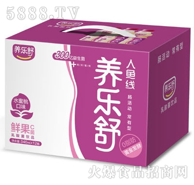 养乐舒水蜜桃味鲜果C菌340mlx12瓶
