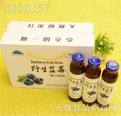 兴安精神野生蓝莓浓浆饮料300mlX10