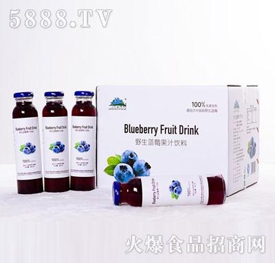 兴安猎神野生蓝莓浓浆饮料300mlX20