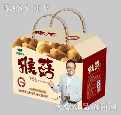 利园牧场猴菇养生奶250mlX12盒