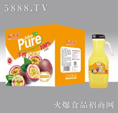 中涵冷榨百香果汁1.5LX6