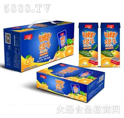 汉水绿梦嗨!橙子水果饮料