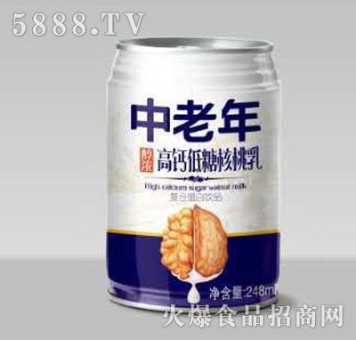 康味来中老年高钙低糖核桃乳248ml