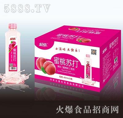 蜜桃苏打果味饮料420mlX24瓶