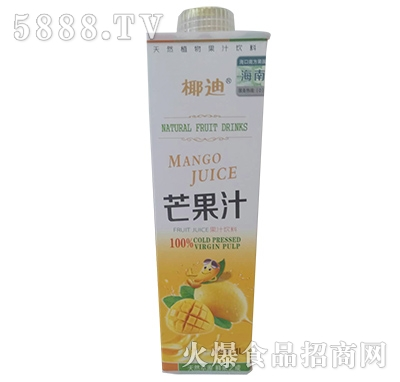 椰迪芒果汁饮料1L
