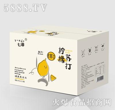 七瀑柠檬味无气苏打水410mlx24瓶