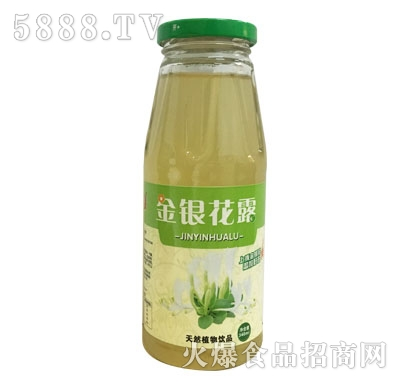 金银花露天然植物饮品产品图