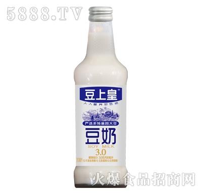 豆上皇非转基因大豆豆奶玻璃瓶装产品图