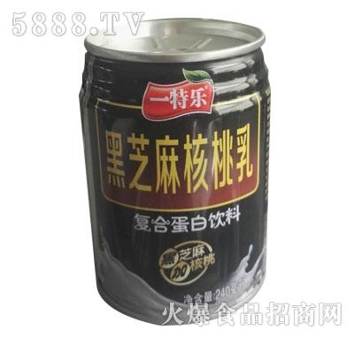一特乐黑芝麻核桃乳复合蛋白饮料240ml
