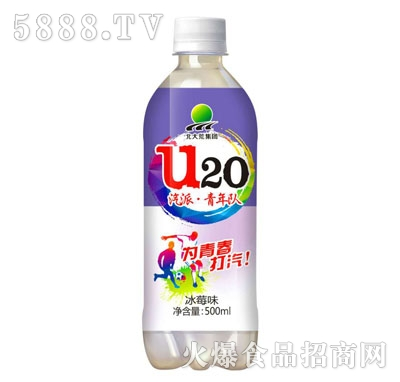 北大荒U20冰莓味汽水500ml