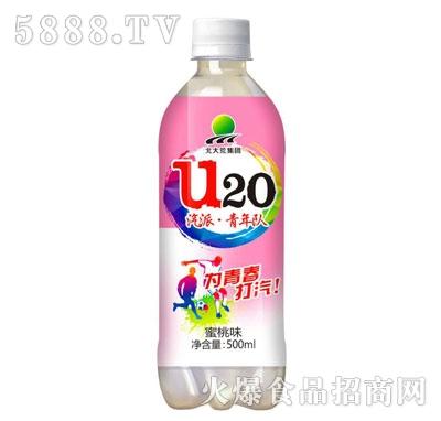 北大荒U20蜜桃味汽水500ml