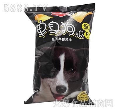 尝乐香单身狗粮日式青芥风味薯片88克