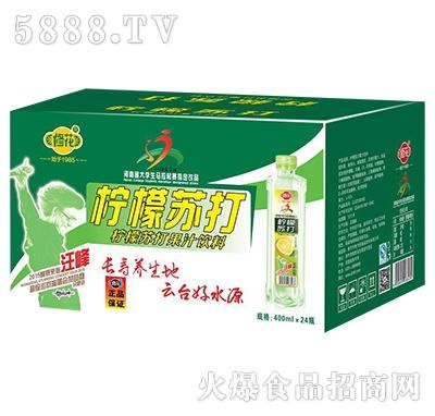 修花柠檬苏打果汁饮料400mlx24瓶