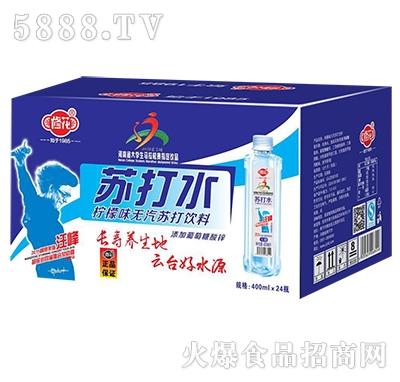 修花加碱苏打水饮料400mlx24瓶