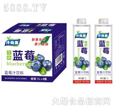 汁尚美蓝莓生榨果汁饮料1Lx8瓶