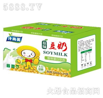 汁尚美原味豆奶植物蛋白饮料330mlx24瓶