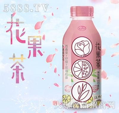 天下水坊花果茶百香里玫瑰味红茶500ml