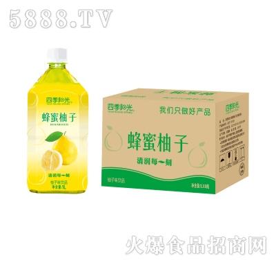 四季阳光蜂蜜柚子1Lx8瓶