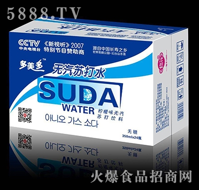 修花多美多(蓝标)苏打水饮料350mlx24瓶