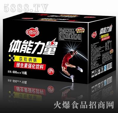 修花体能力量瓜拉纳维生素强化饮料600mlx15瓶(黑标)