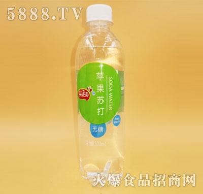 笑连连蜜桃苏打苹果味碳酸饮料500ml